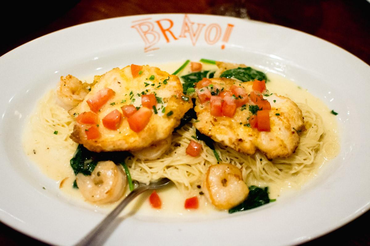 BRAVO Chicken & Shrimp Scampi summertime menu