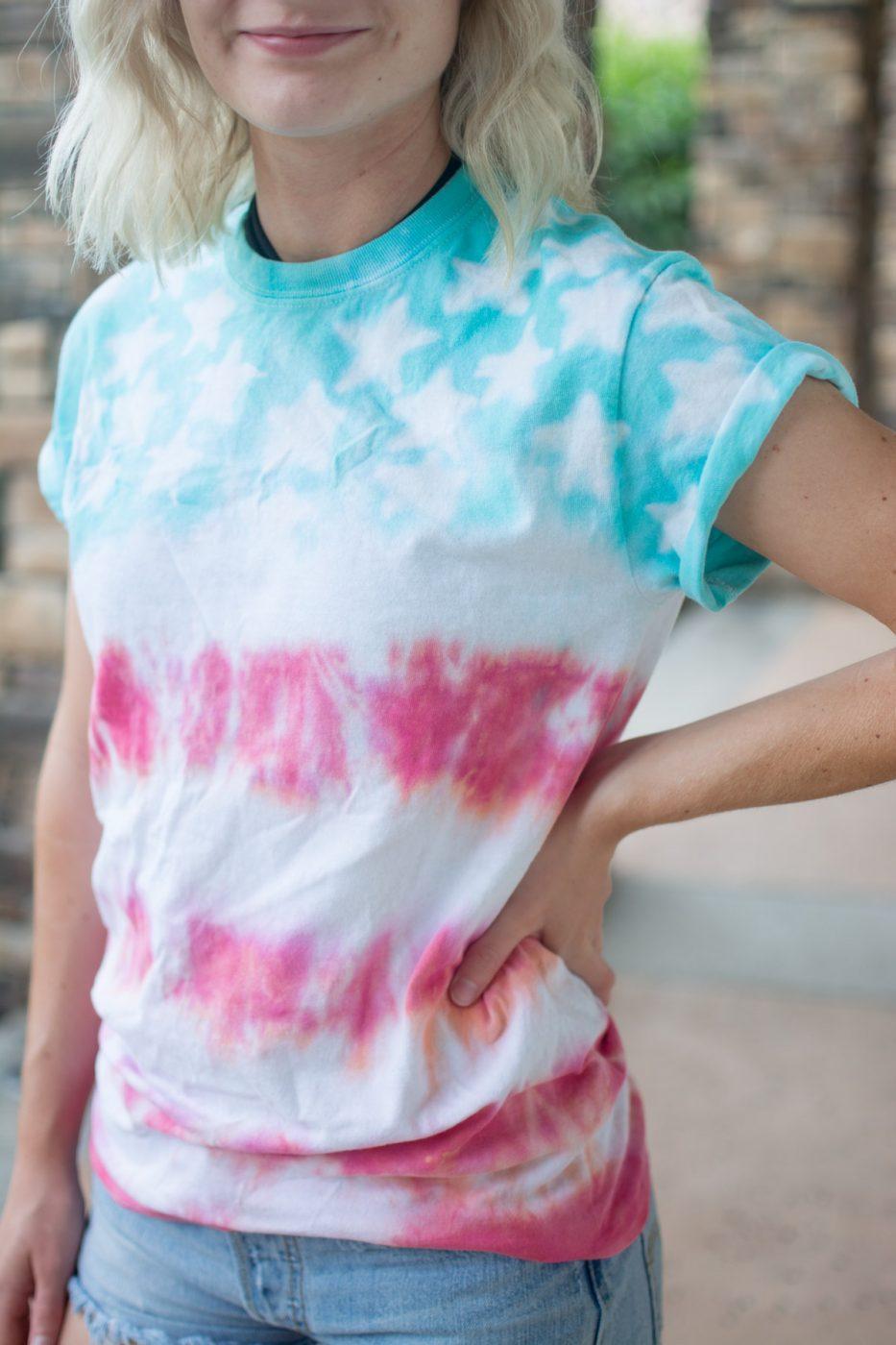 DIY American Flag Tie Dye Shirt