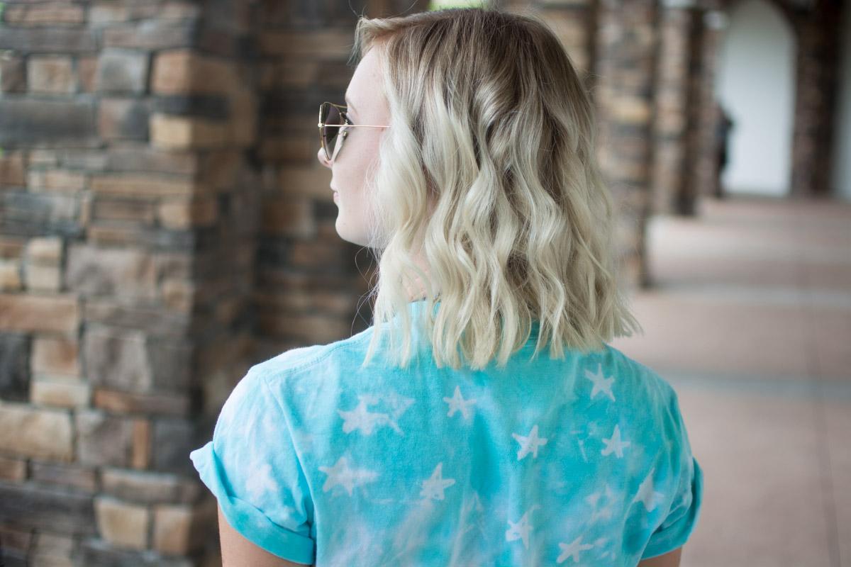DIY American Flag Tie Dye Shirt Stars