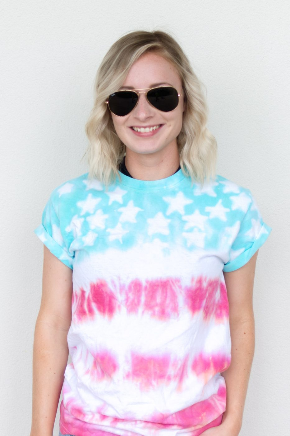 DIY American Flag Tie Dye Shirt by Jenny Bess of Sweet Teal