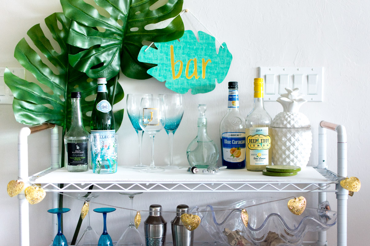Top of Bar Cart - Sweet Teal