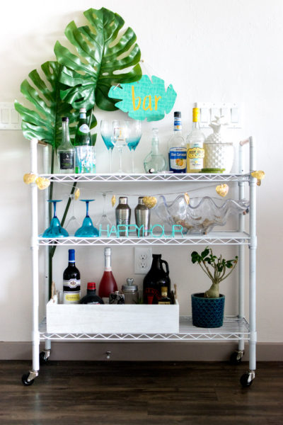 $80 DIY Bar Cart