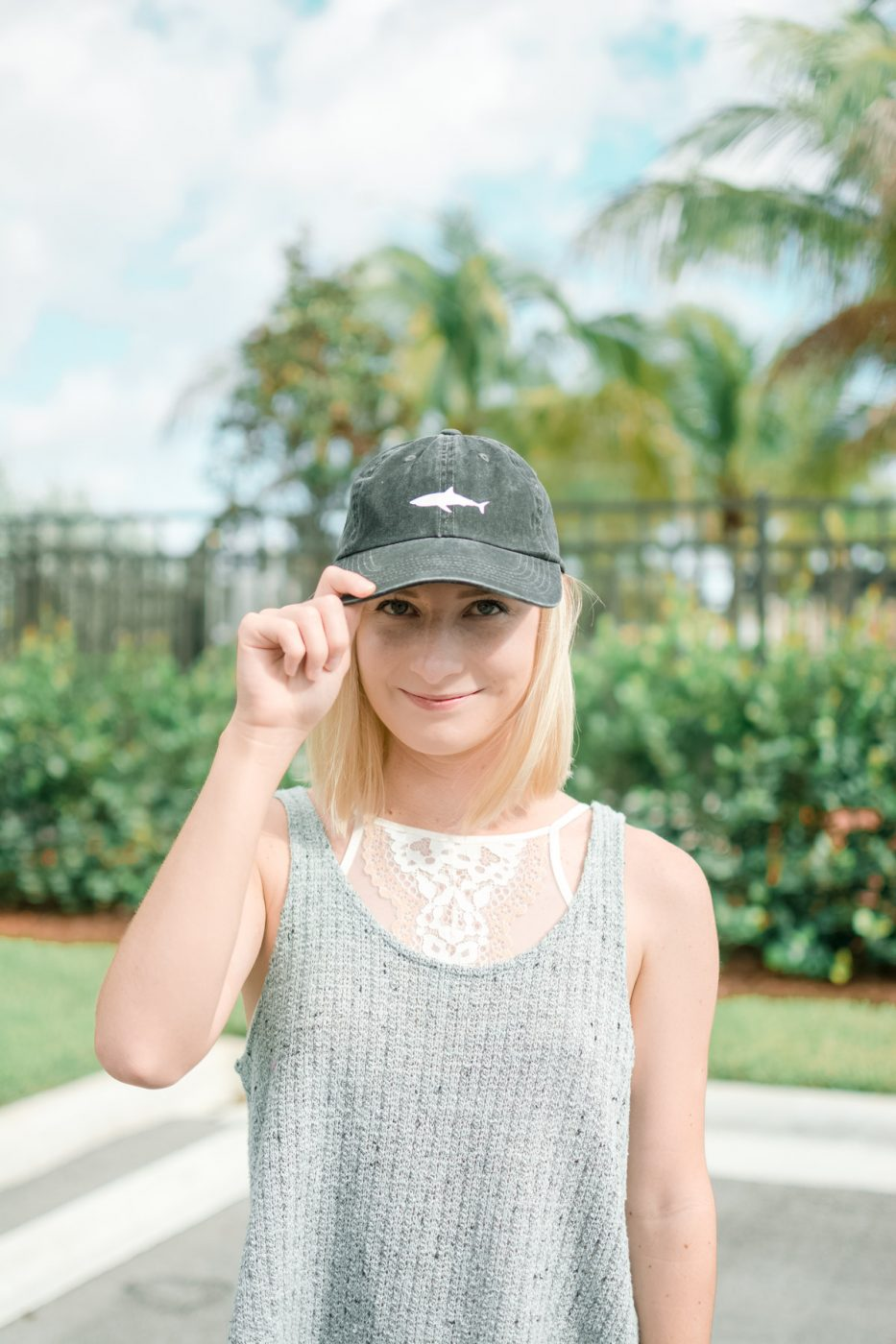 DIY Baseball Cap Shark Decal by Jenny Bess of Sweet Teal