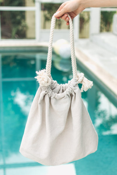 DIY Canvas Beach Bag (No Sew!)