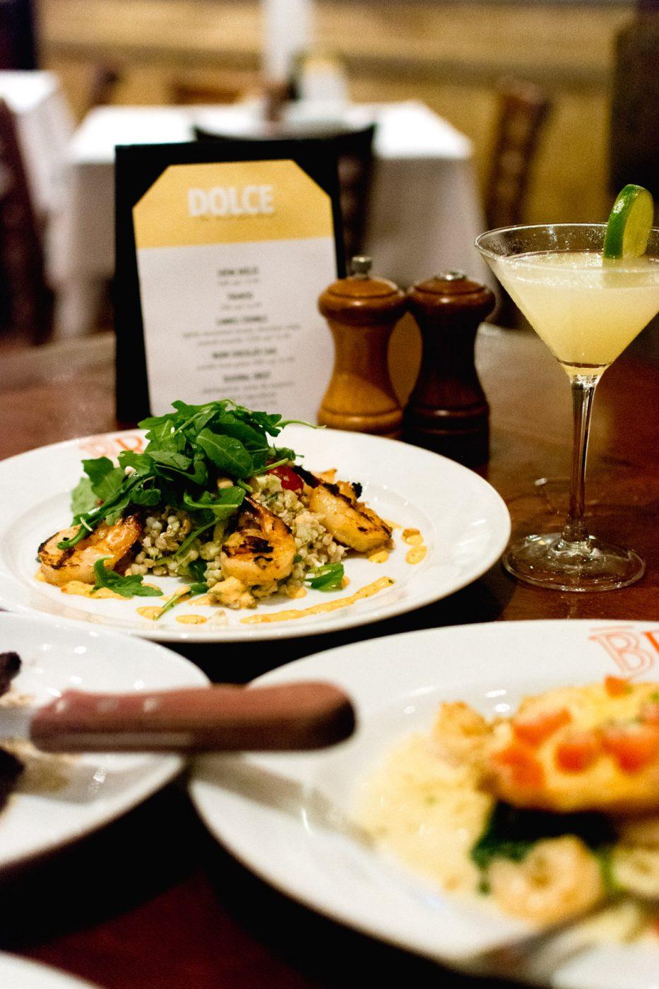 Grilled Shrimp & Cous Cous Pilaf BRAVO summertime menu