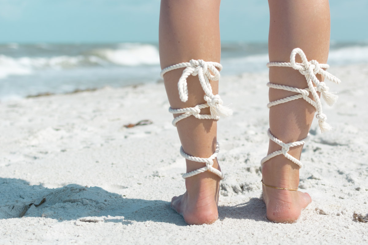 Back of barefoot Sandals