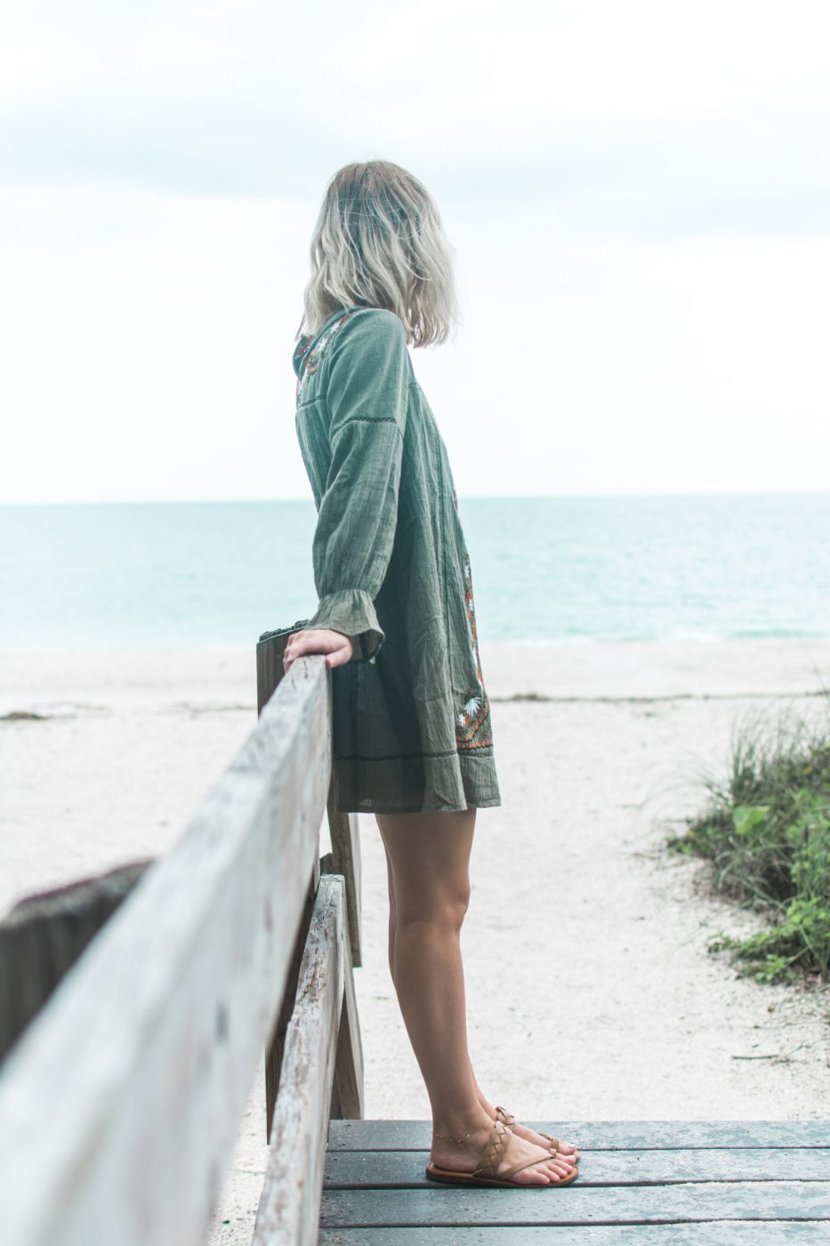 green dress worn by Jenny of Sweet Teal