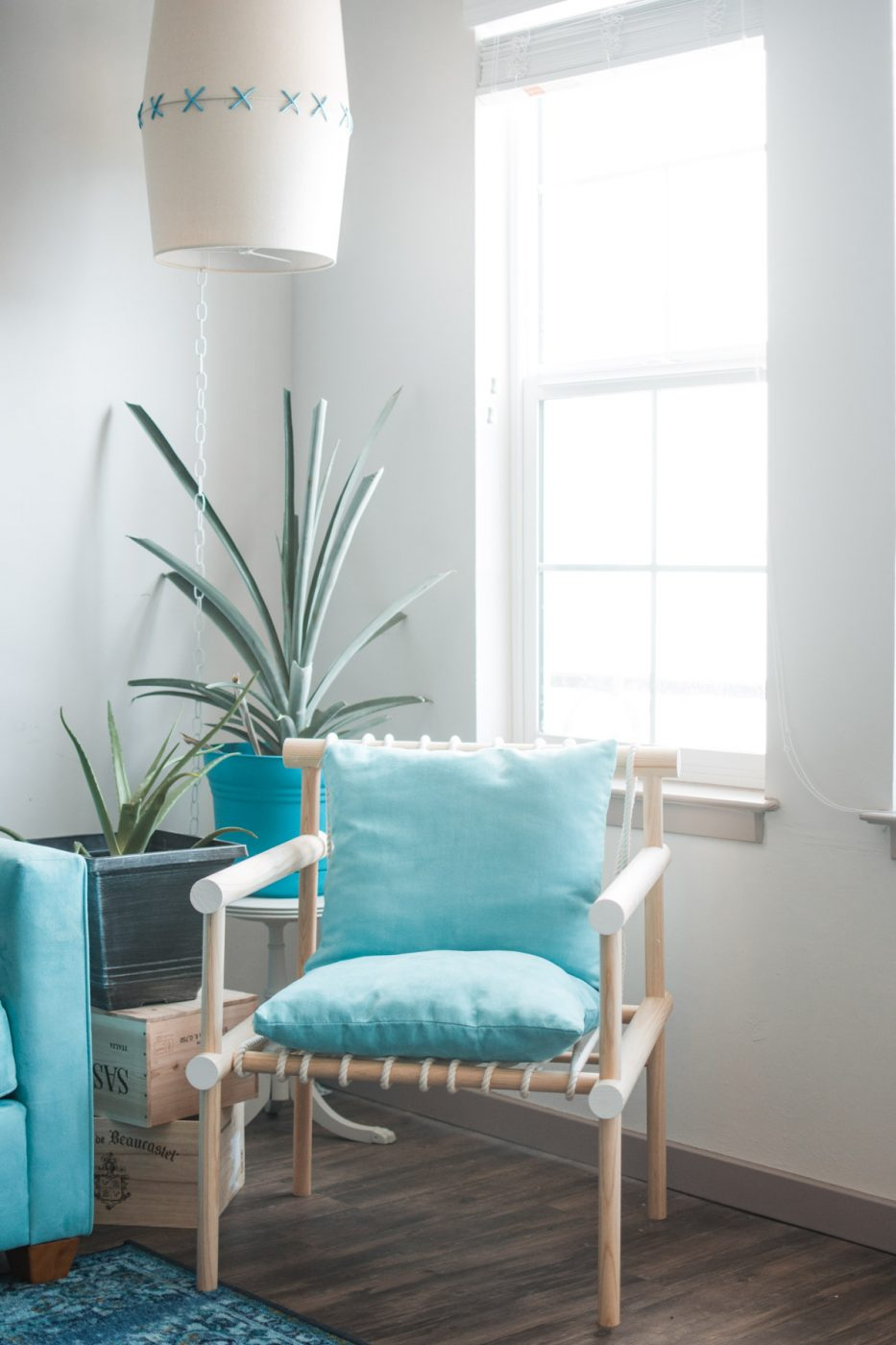 Boho Tropical Living Room DIY Chair - Sweet Teal