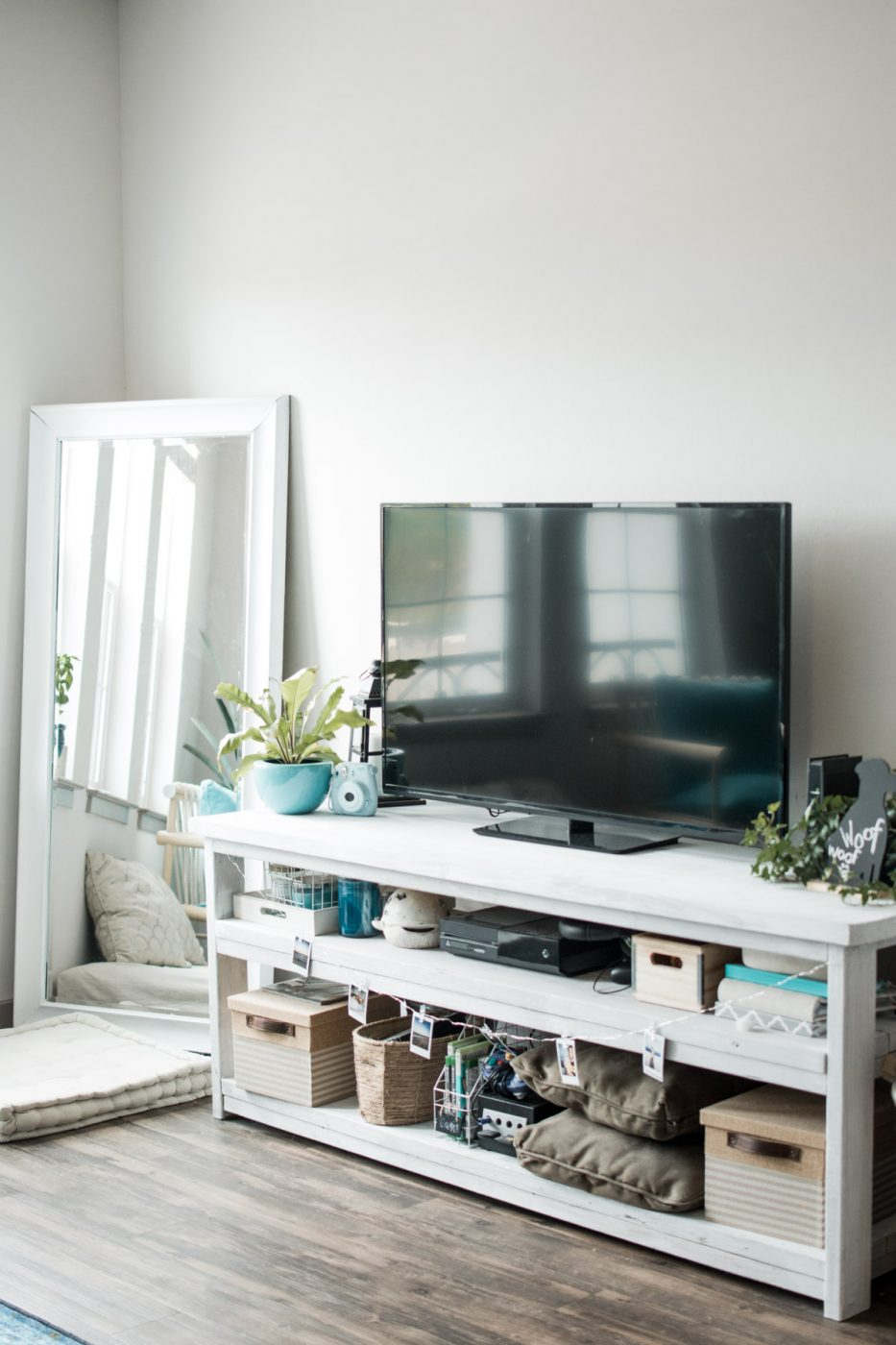 Boho Tropical Living Room TV Stand - Sweet Teal