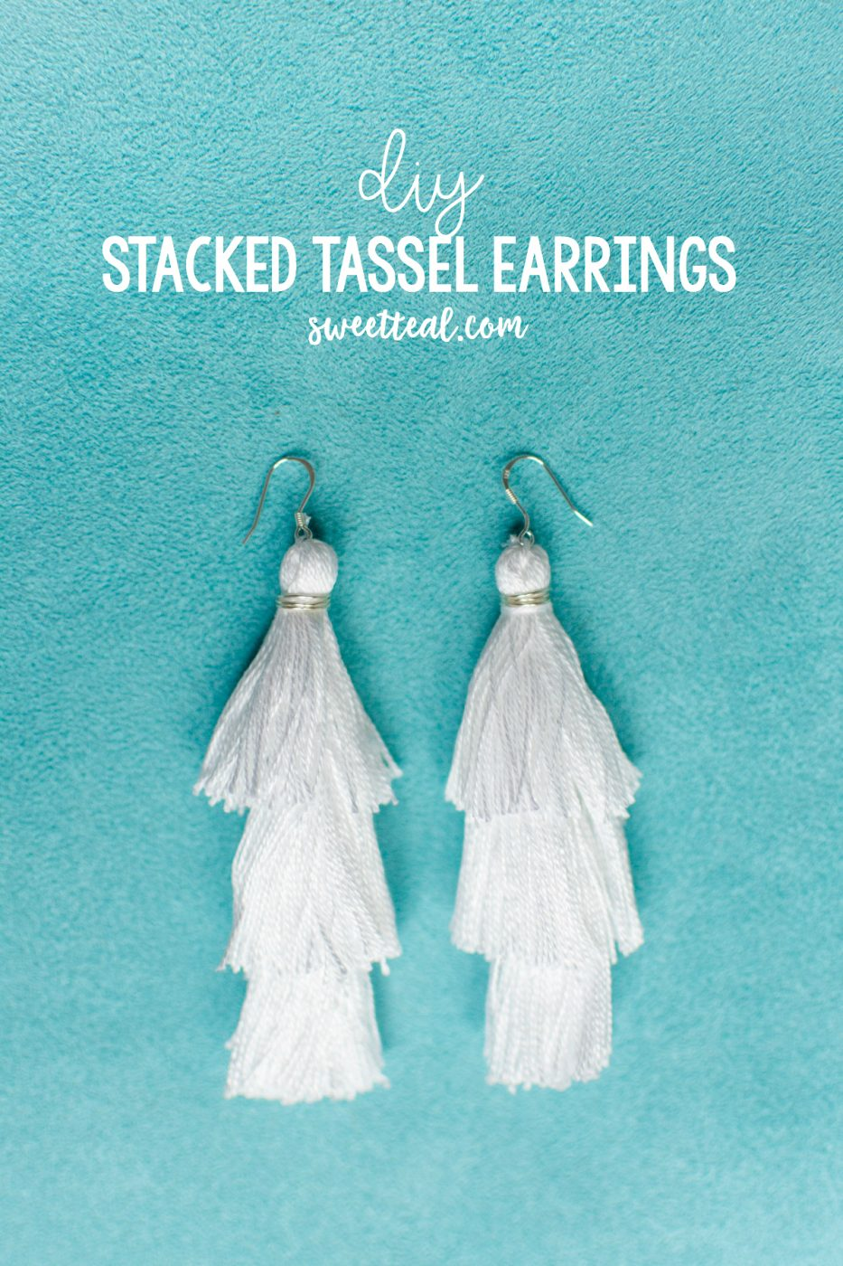 DIY Stacked Tassel Earrings by Jenny of Sweet Teal