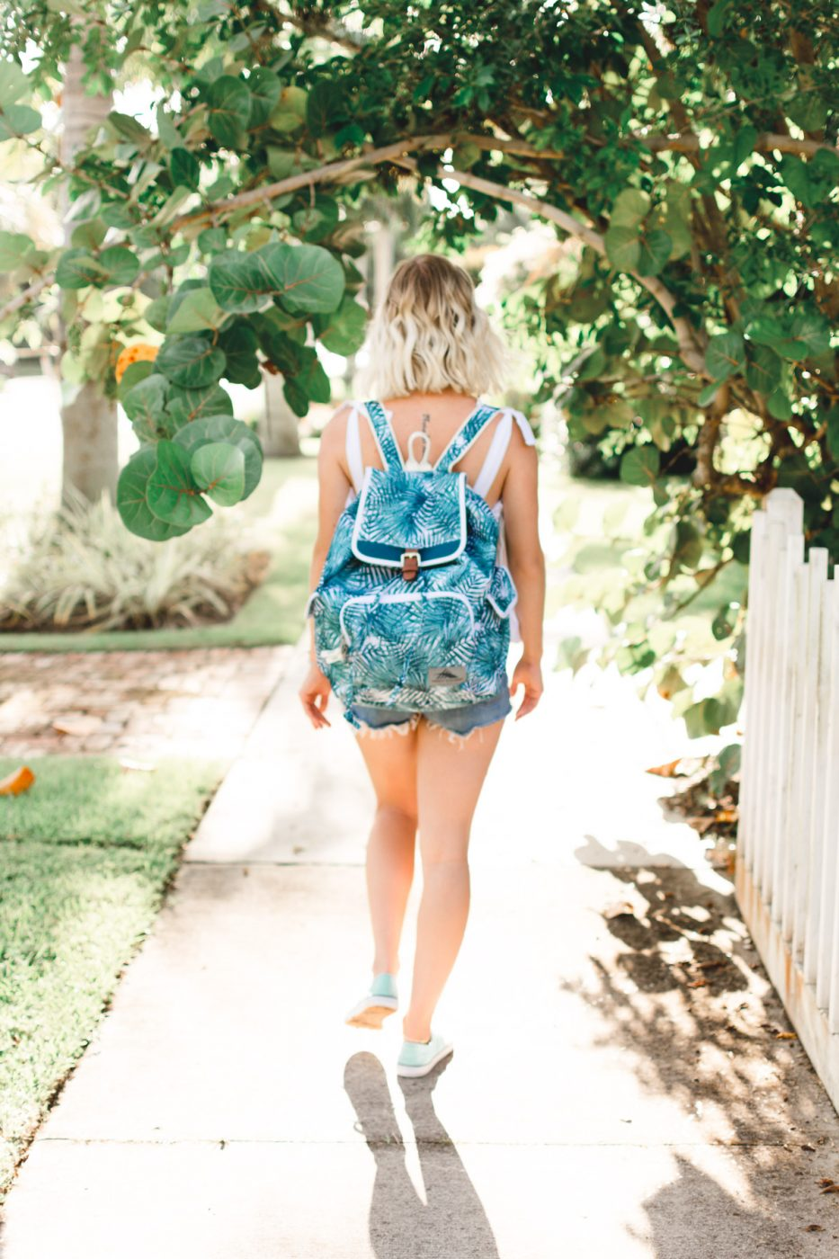 Jenny Bess wearing High Sierra Backpack - Sweet Teal