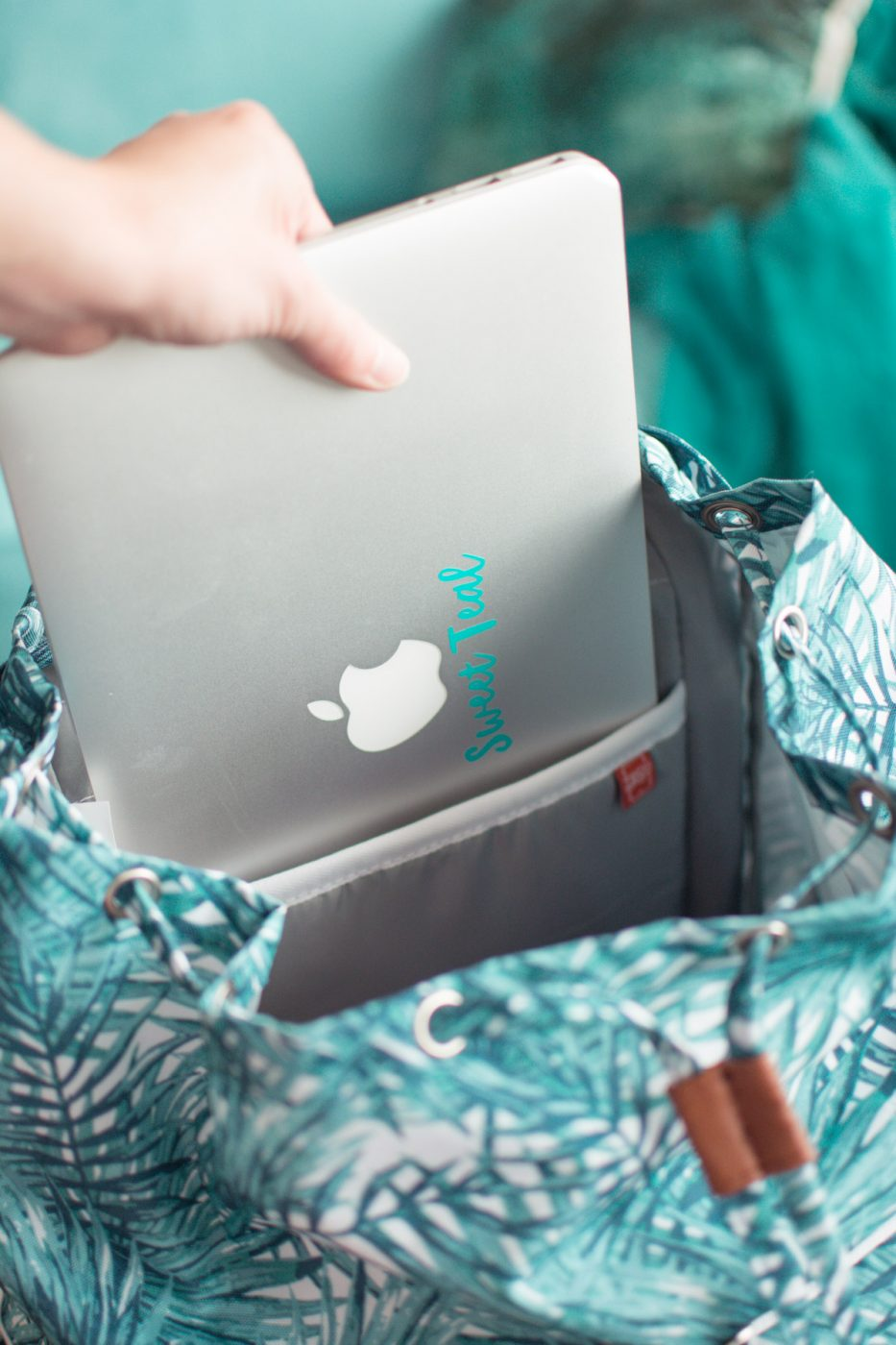 High Sierra backpack laptop sleeve- Sweet Teal