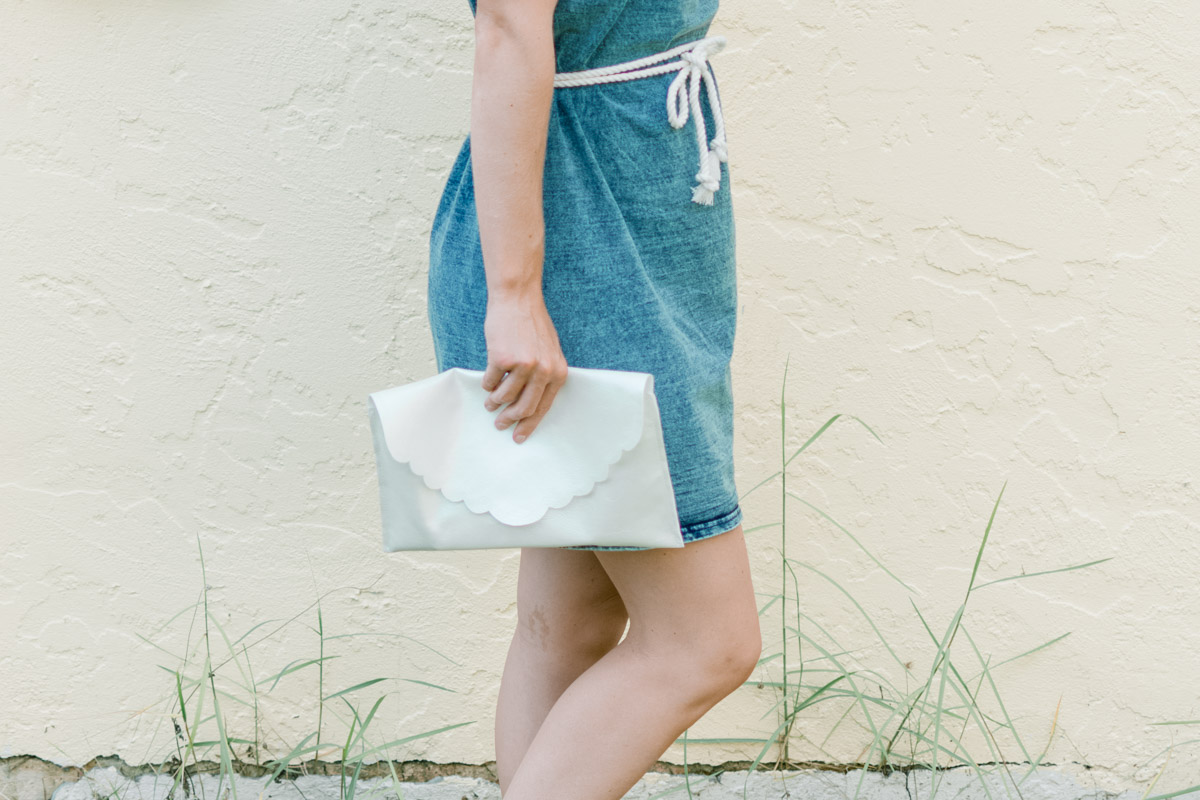 Ivory Closet Dress & DIY Scalloped Clutch - Sweet Teal