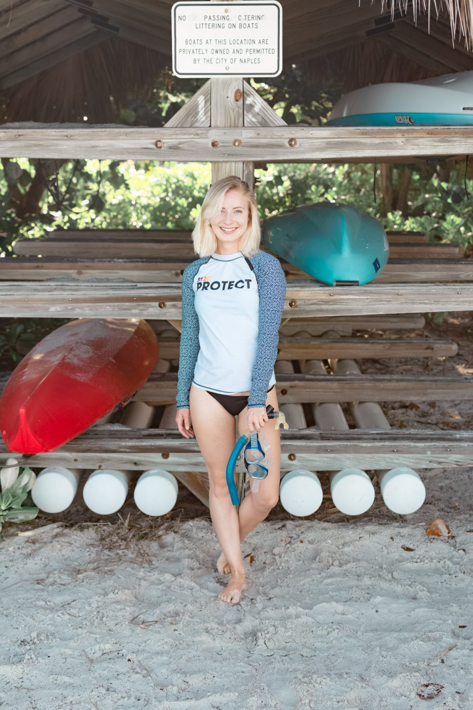 Jenny in a rashguard from Cabana Life