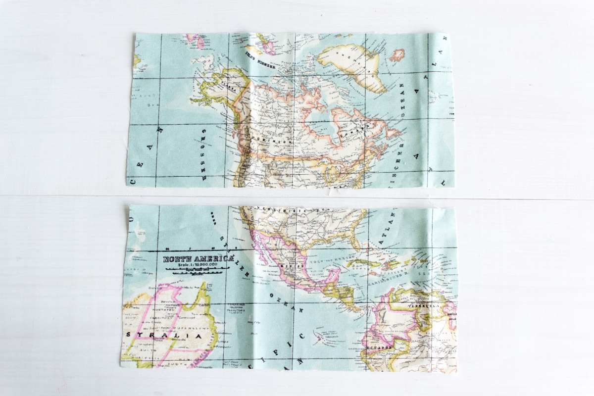DIY passport holder tutorial - cut fabric