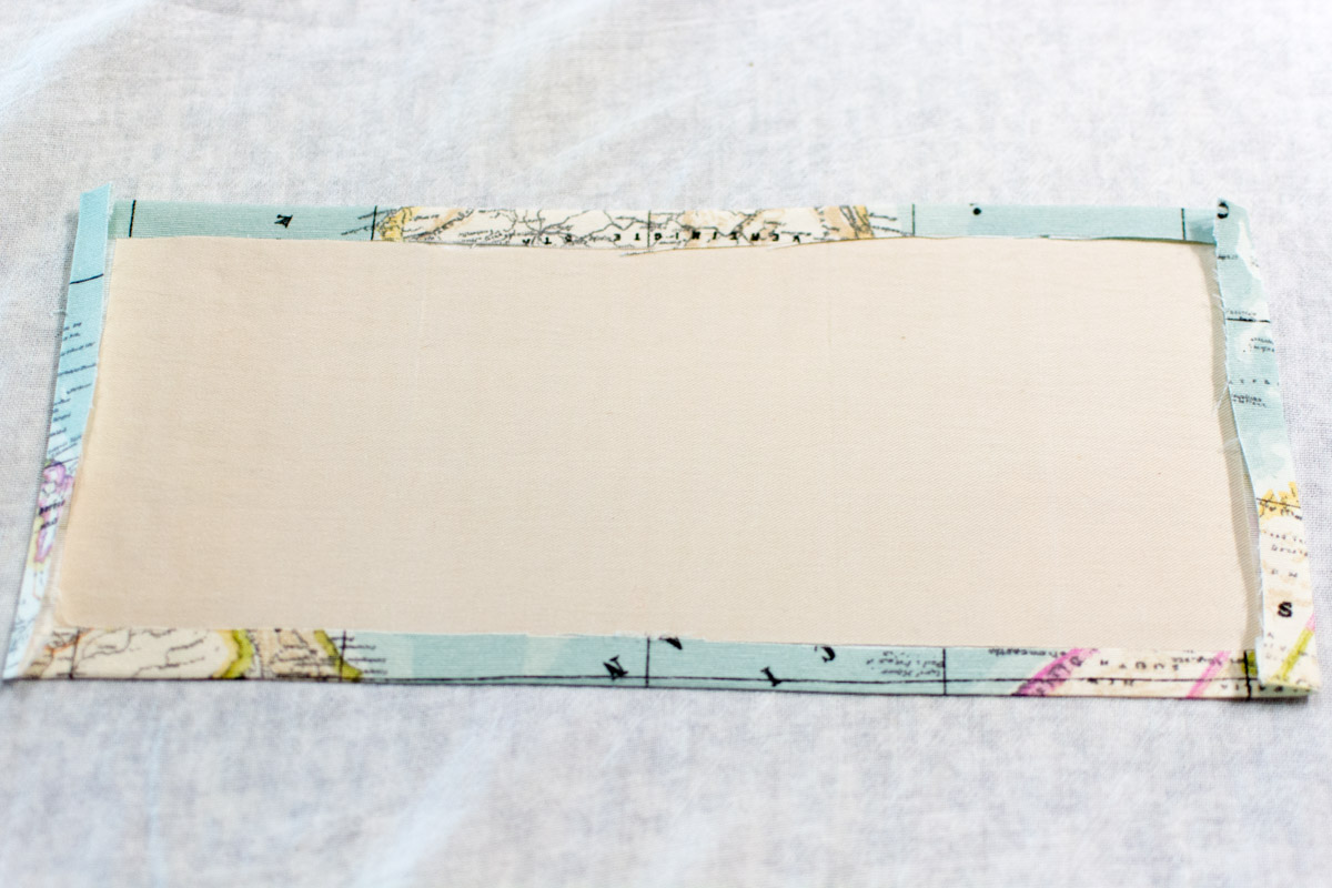 DIY passport holder tutorial - interfacing