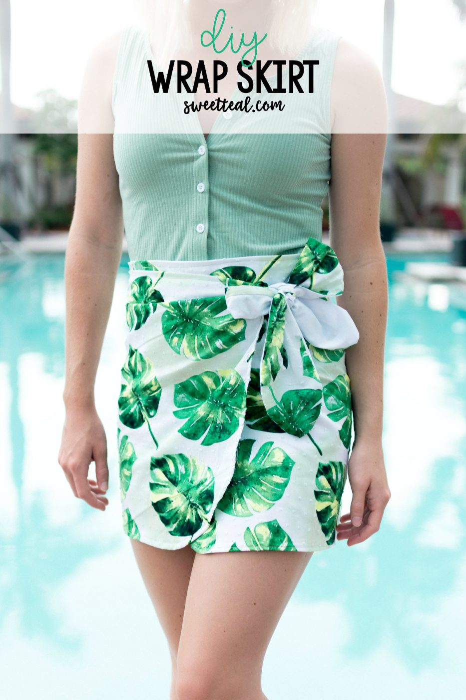 DIY Wrap Skirt by Jenny of Sweet Teal (Super Easy!)