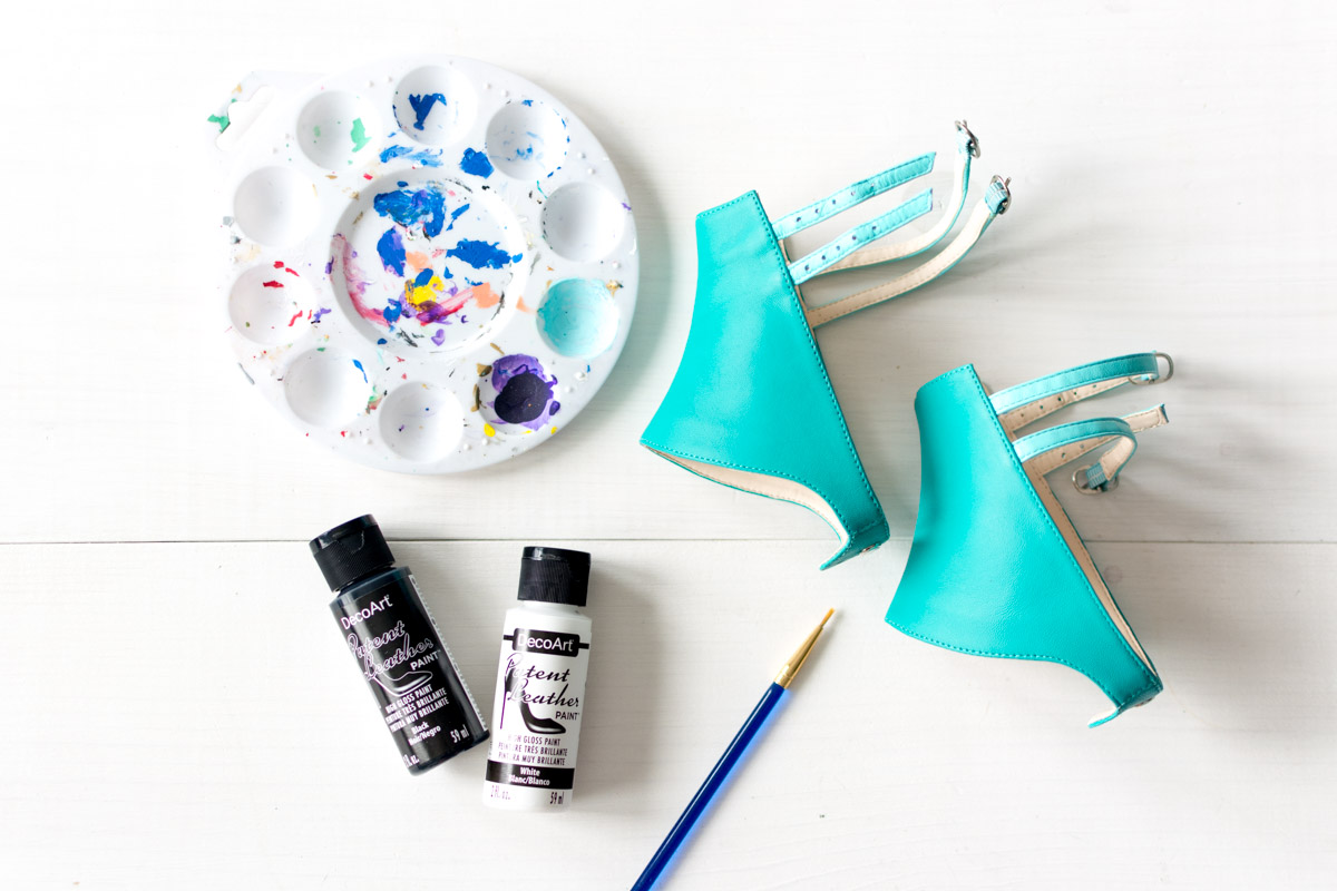 Alterre DIY Shoes Painted Mermaid Scales Tutorial Supplies - Sweet Teal
