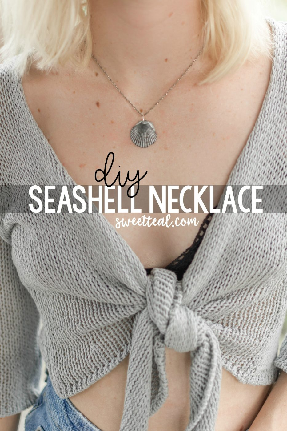 DIY Seashell Necklace Video Tutorial - Sweet Teal