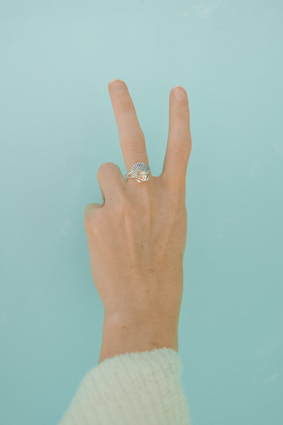 DIY Seashell Ring - Sweet Teal