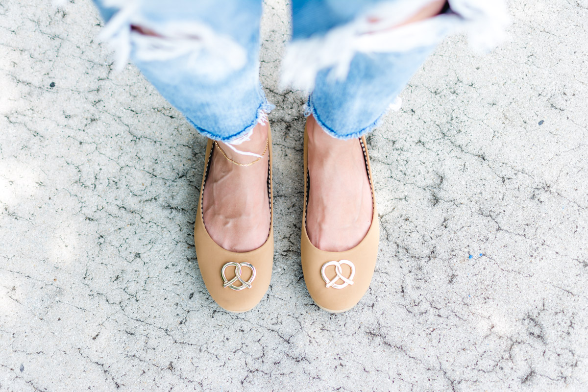Loly in the Sky Pretzel Flats - Sweet Teal