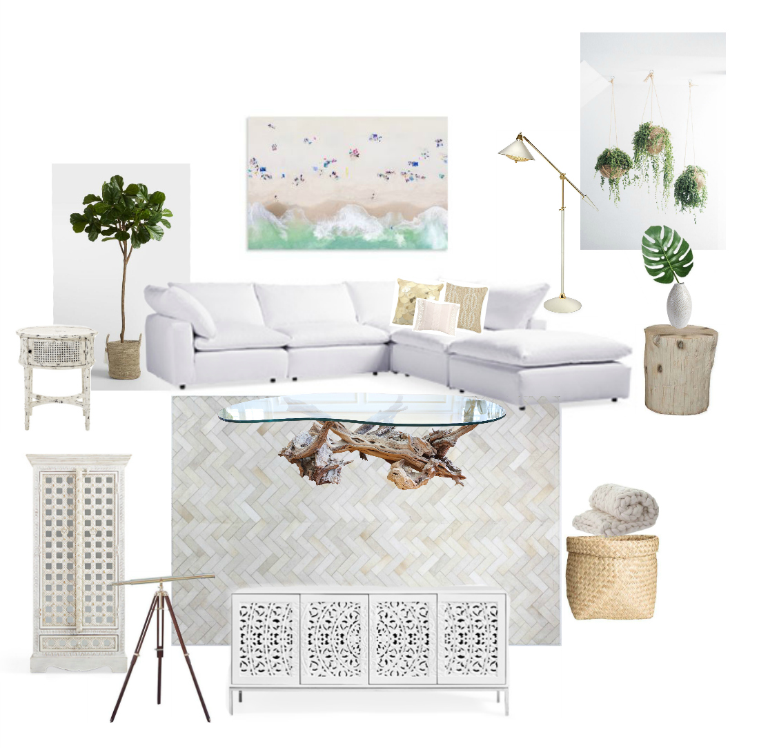 Dream Living Room Mood Board - Sweet Teal