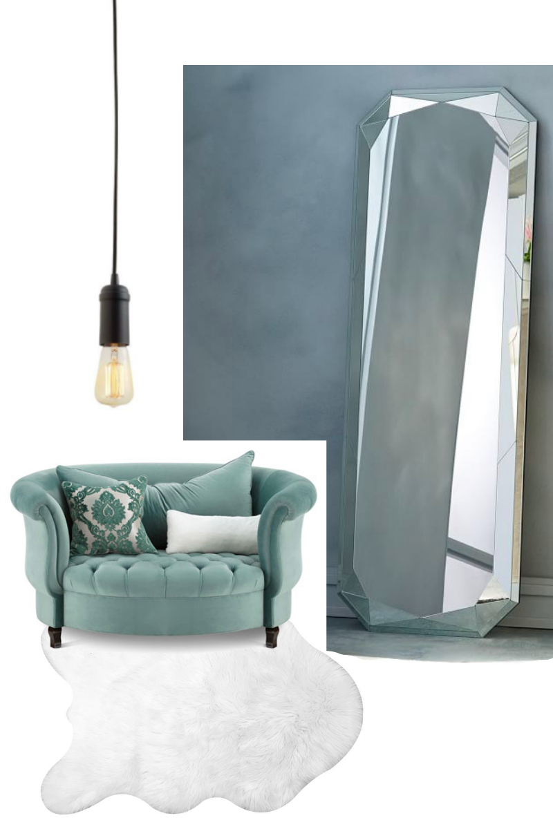 Mirror Area Dream Living Room - Sweet Teal