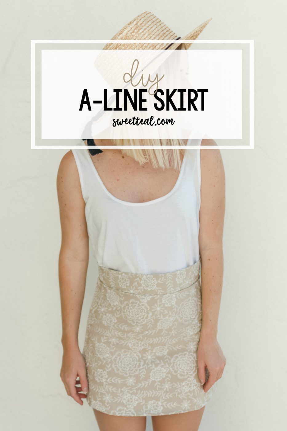 DIY A-Line Skirt by Sweet Teal