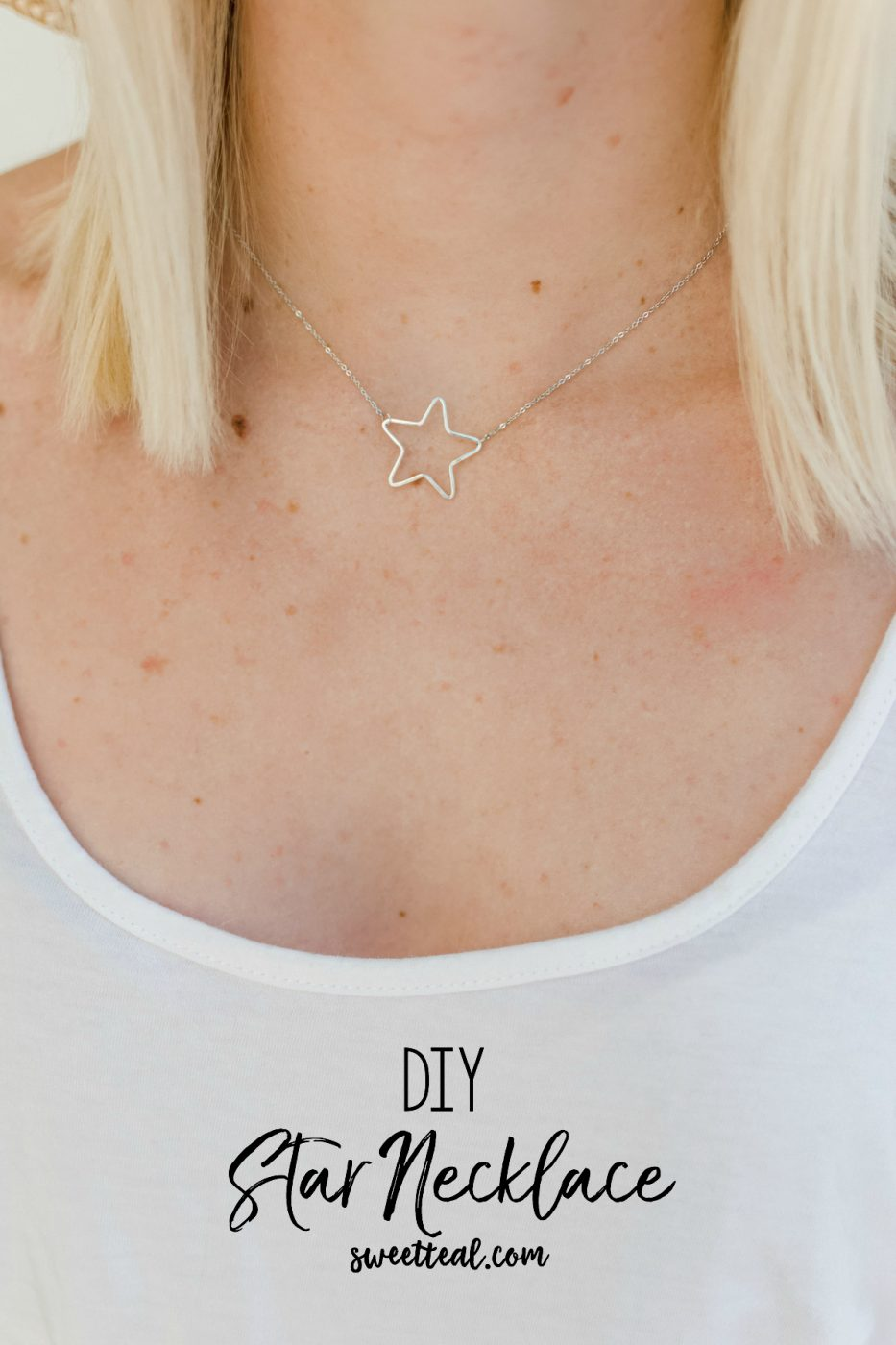 DIY Star Necklace - Sweet Teal