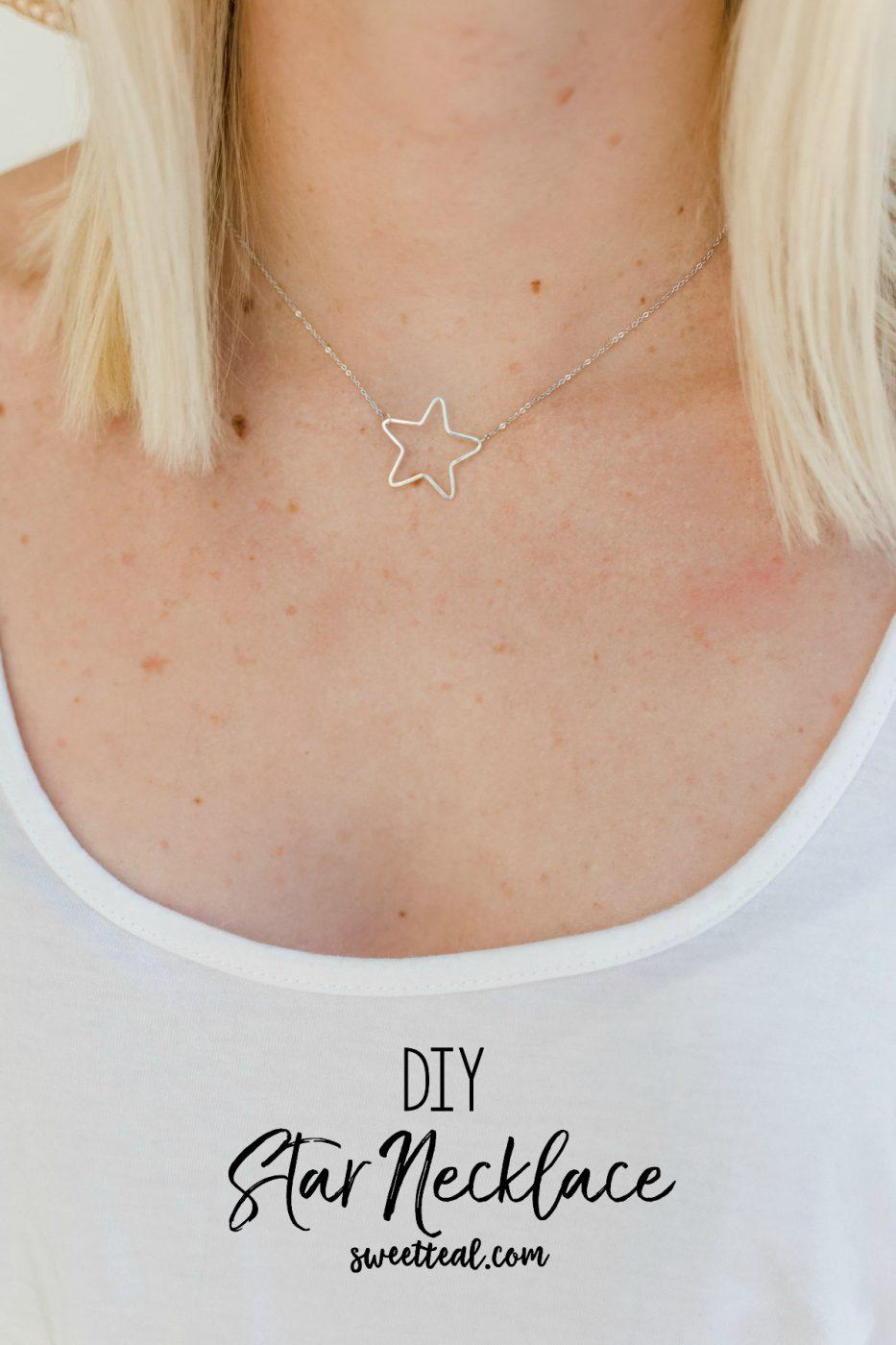 DIY Star Necklace - Sweet Teal
