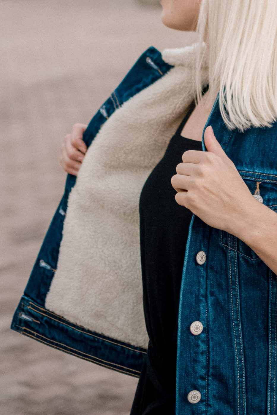 Jenny Bess of Sweet Teal for Old Navy Sherpa