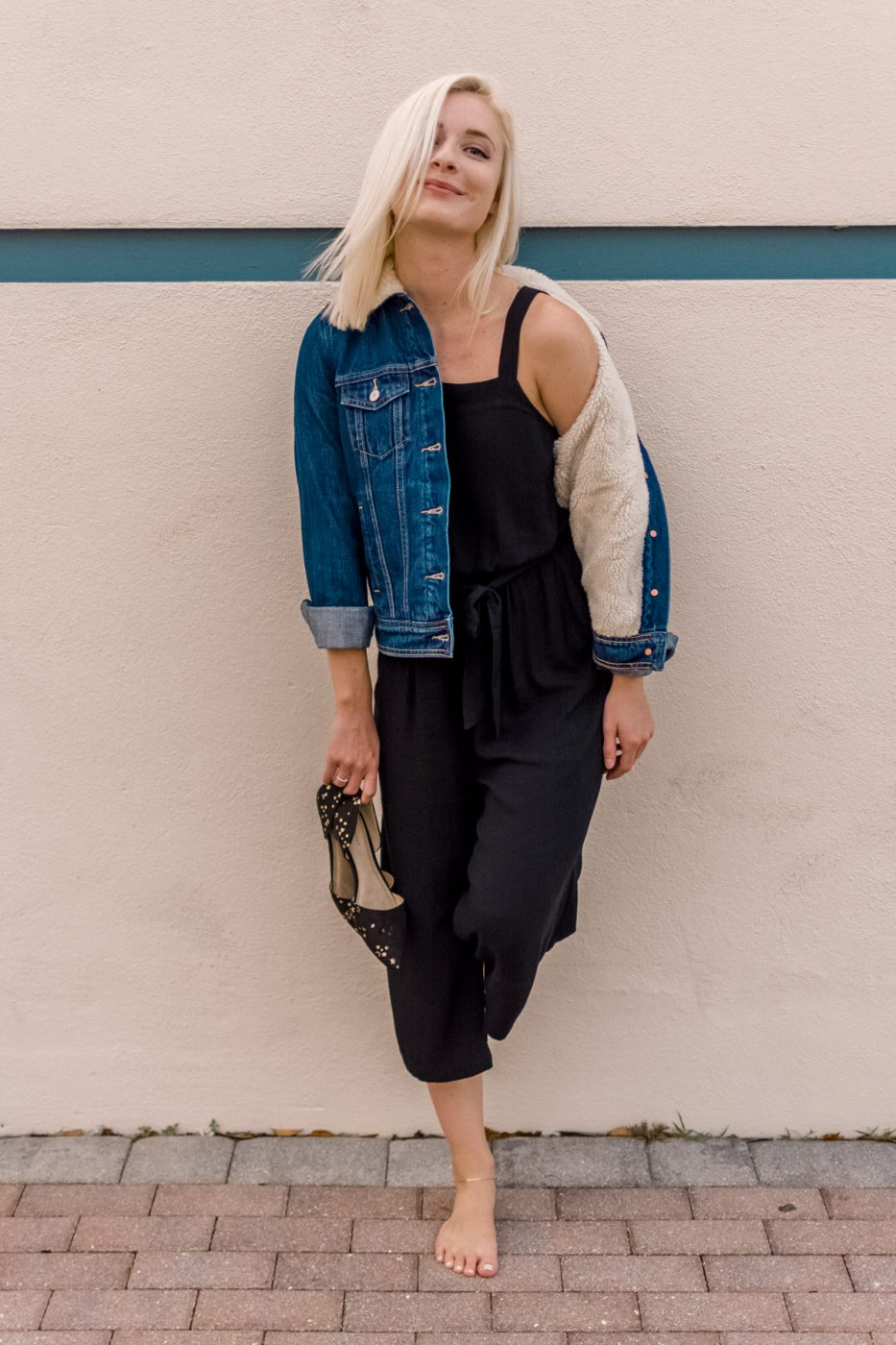 Sherpa Jacket & Jumpsuit from Old Navy - Sweet Teal