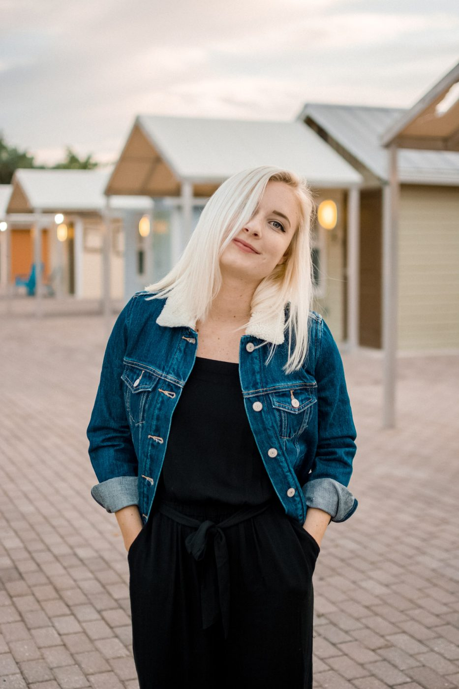 Jenny Bess of Sweet Teal for Old Navy - Sherpa Denim