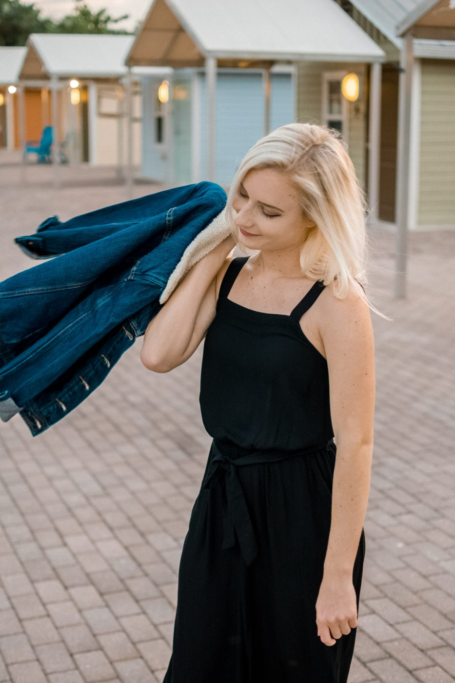Jenny Bess wearing Black Old Navy Jumpsuit - Sweet Teal