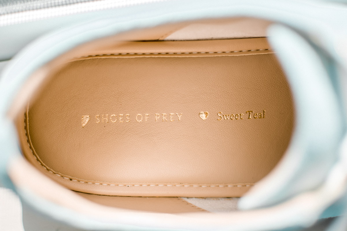 Shoes of Prey Inscription in Sole - Sweet Teal