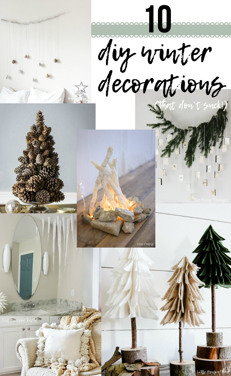 10 DIY Winter Decorations - Sweet Teal