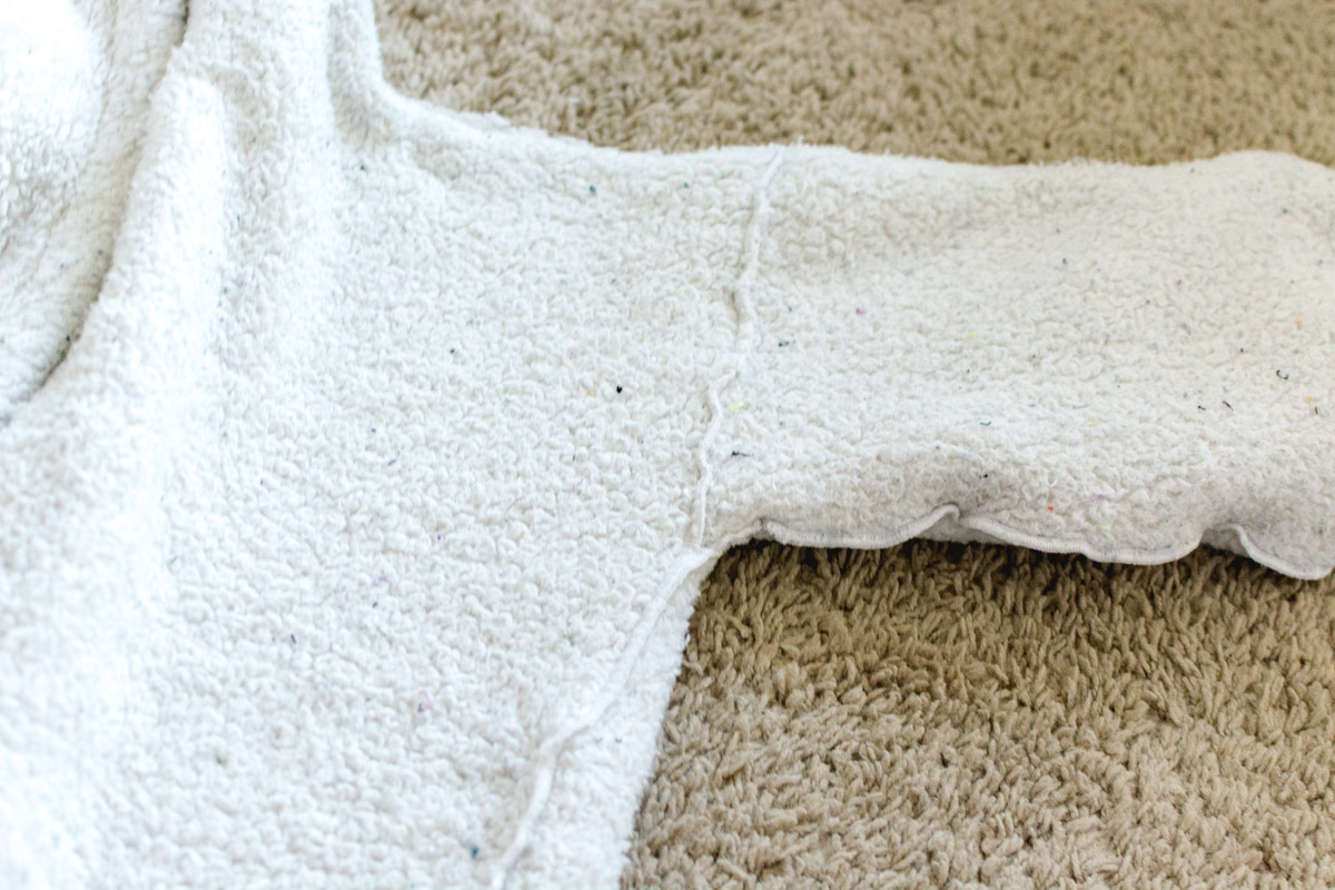 DIY Bathrobe step 10 - Sweet Teal