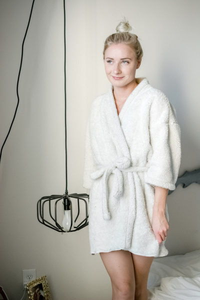 DIY Bathrobe (using a blanket!)