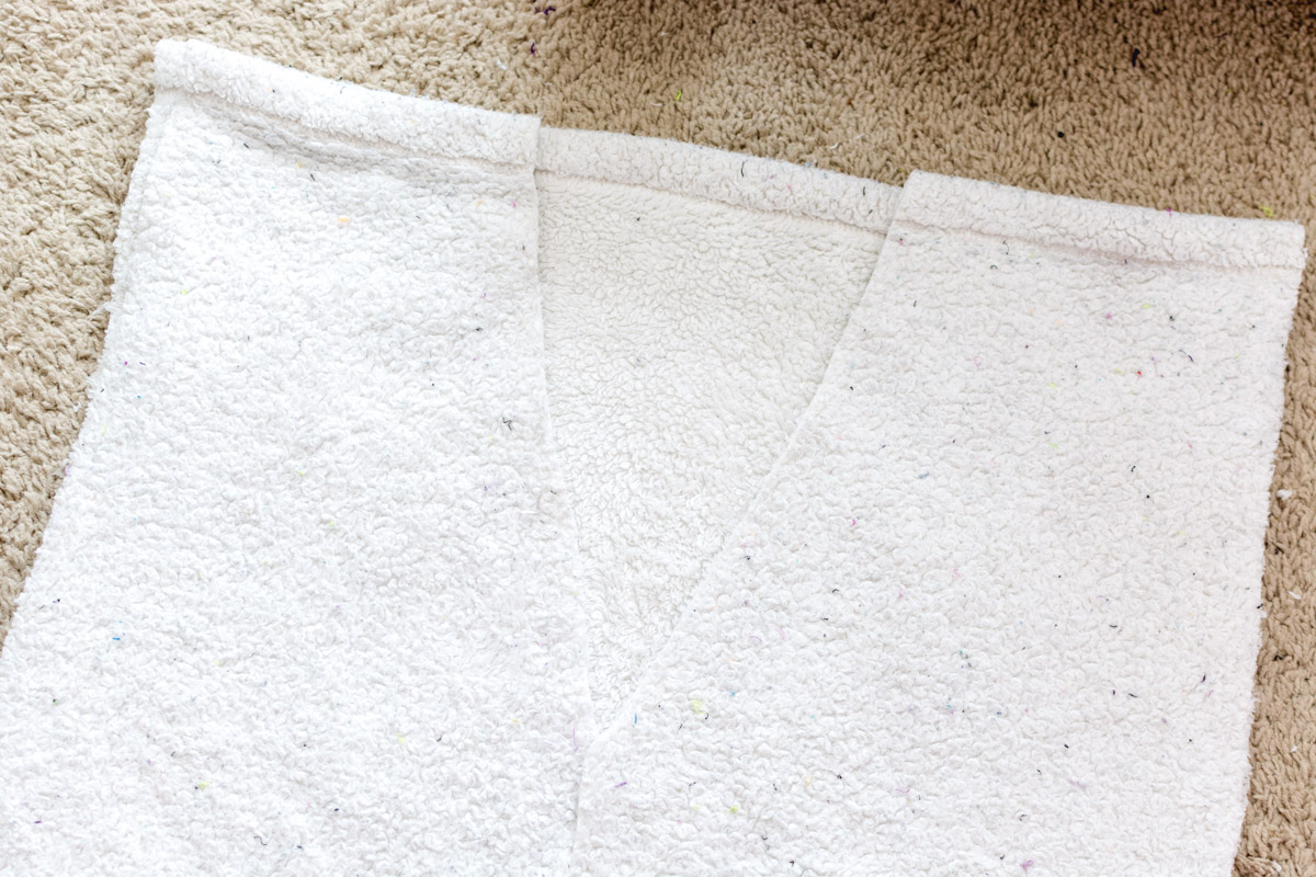 DIY Bathrobe step 4 - Sweet Teal
