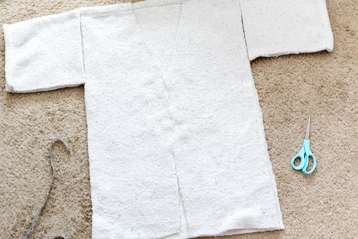 DIY Bathrobe step 6 - Sweet Teal