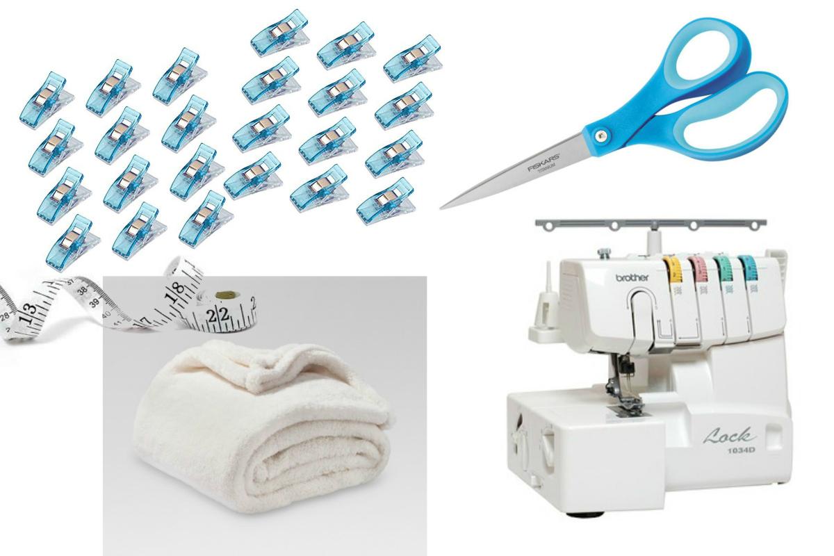 DIY Bathrobe supplies - Sweet Teal
