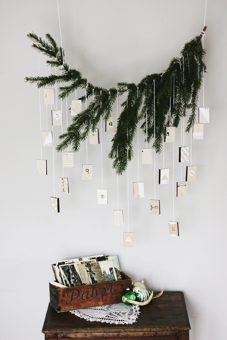 10 DIY Winter Decorations - advent calendar