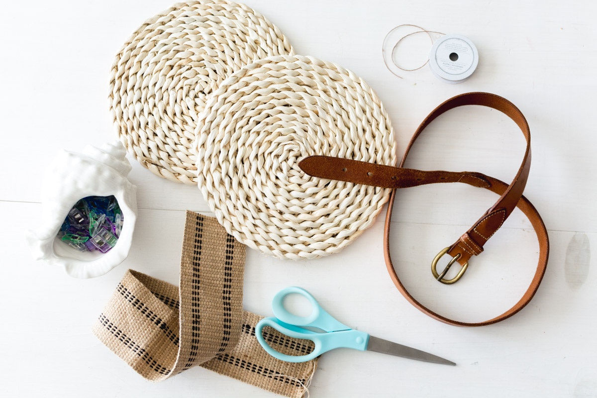 DIY Straw Crossbody Bag Supplies - Sweet Teal