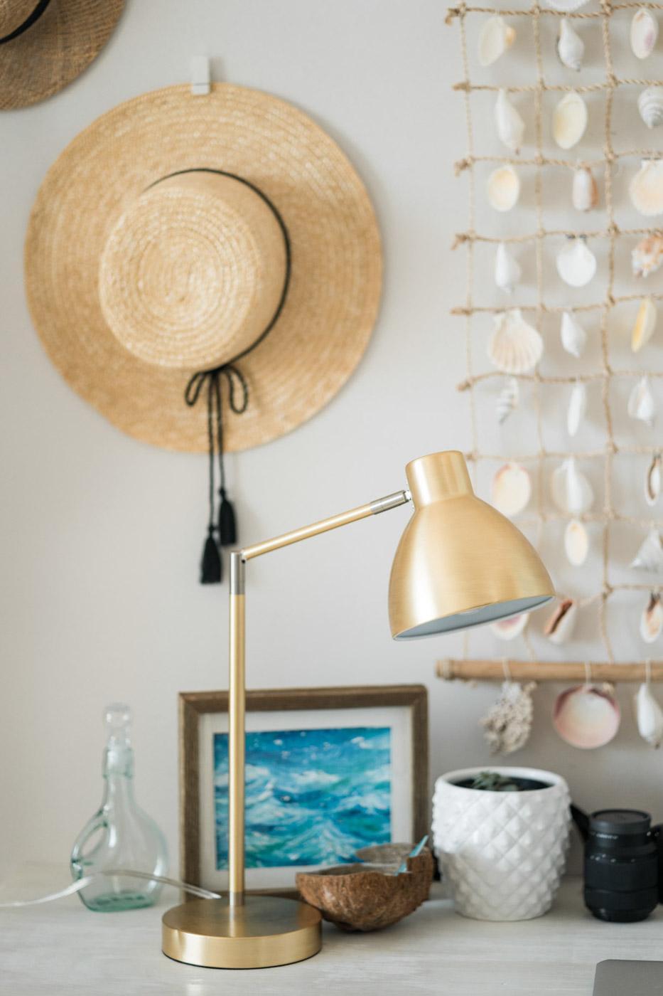Beachy Boho Office details lamp - Sweet Teal
