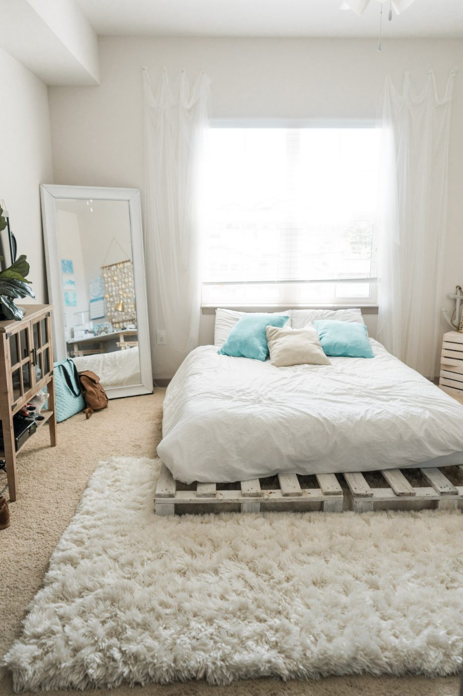 Beachy Boho Bedroom Bed - Sweet Teal