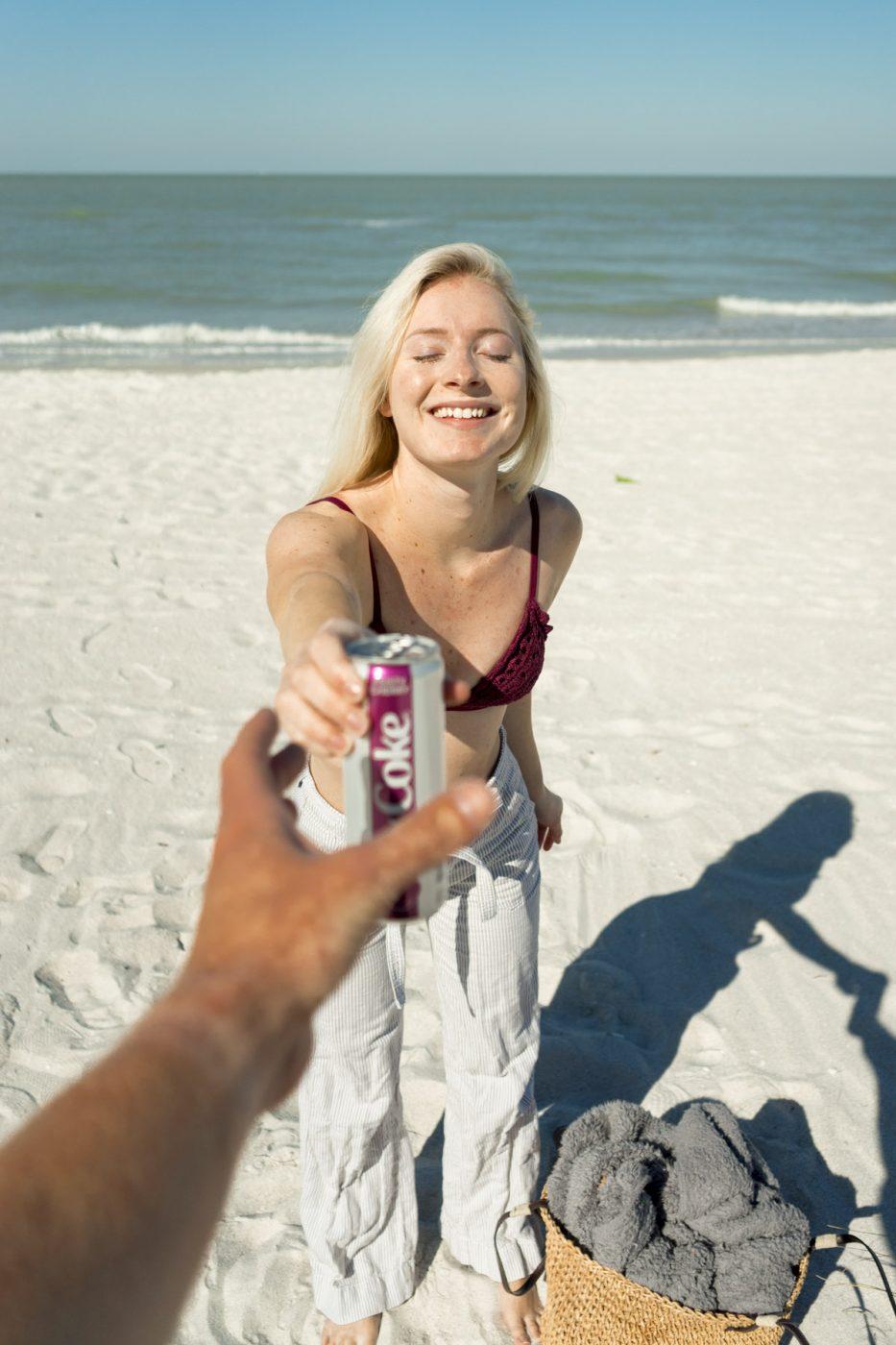 Diet Coke Cherry Beach - Sweet Teal