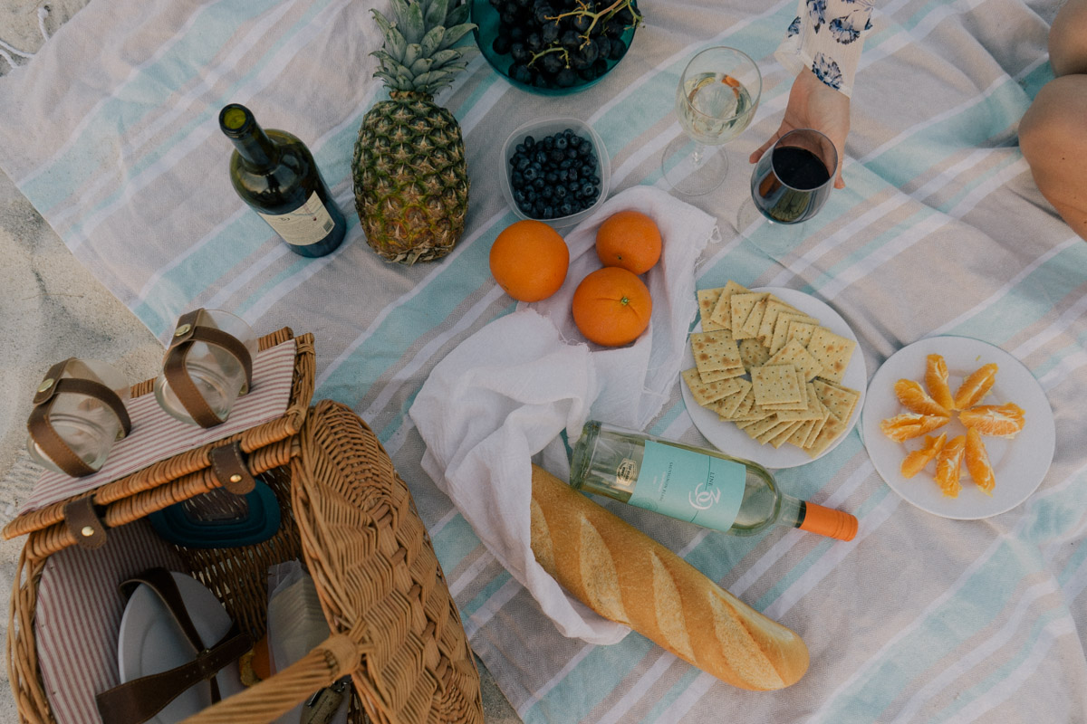 Picnic with Line 39 Wine