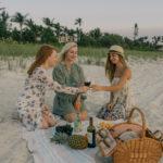 Sunset Beach Picnic with Line 39 Wine