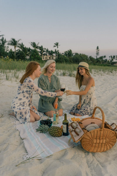 Sunset Beach Picnic with Line 39 Wine