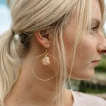 DIY Seashell Hoop Earrings